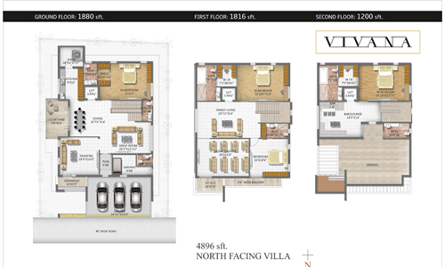 VIVANA floorplan 4896sqft north facing