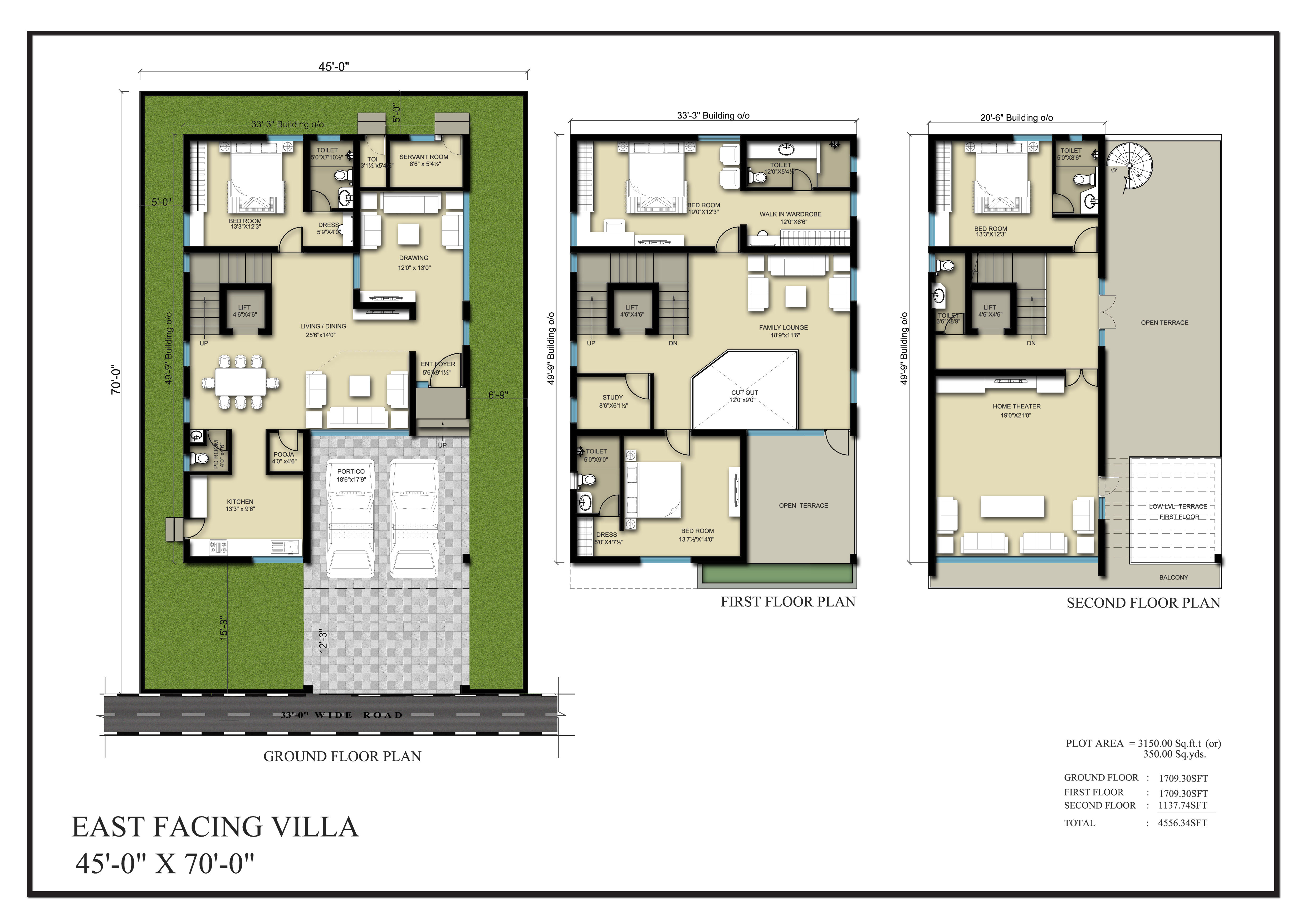 Vasantha City floorplan 4566sqft east facing