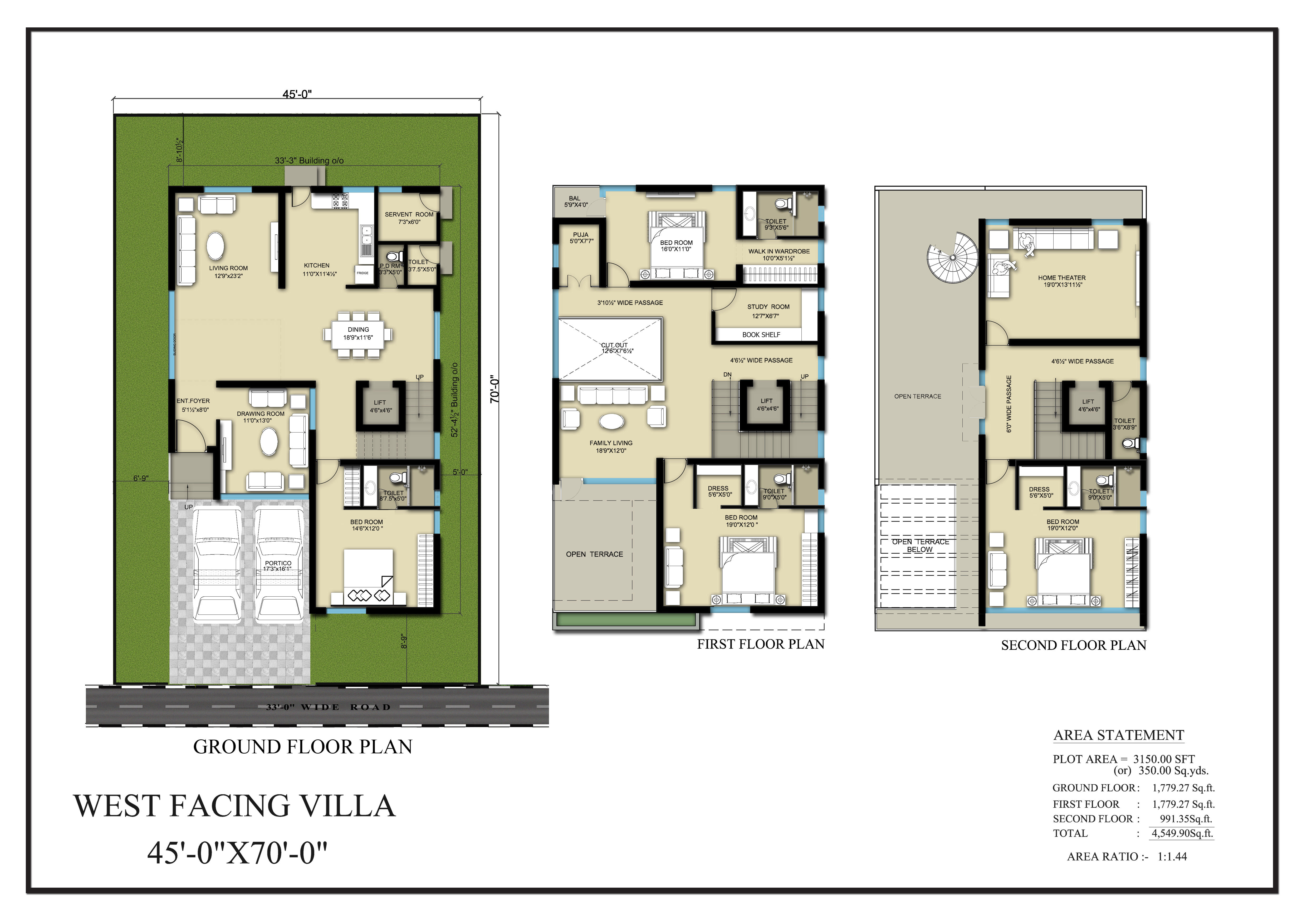 Vasantha City floorplan 4550sqft west facing