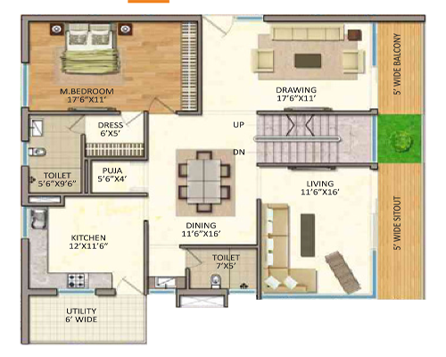 Vasavi GP Trends floorplan 4630sqft west facing