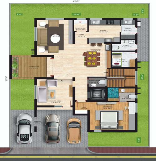 Vessella Meadows floorplan 5,222 sqft east  facing