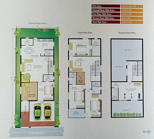 WHISTLING WOODS floorplan 3295sqft east facing