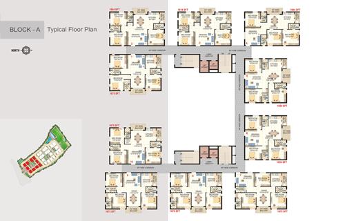 Wiiz Lagoon floorplan 1259 sqft east facing