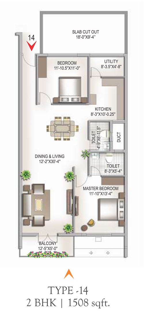 Yashaswinii Meadoows floorplan 1508sqft west facing
