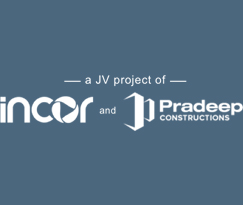 Incor and Pradeep Constructions logo hyderabad logo